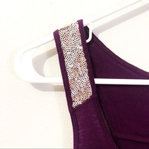 Old Navy Tops - Purple, sequin embellished tank top.